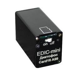 EDIC-mini Card16 A99 миниатюрный профессиональный диктофон
